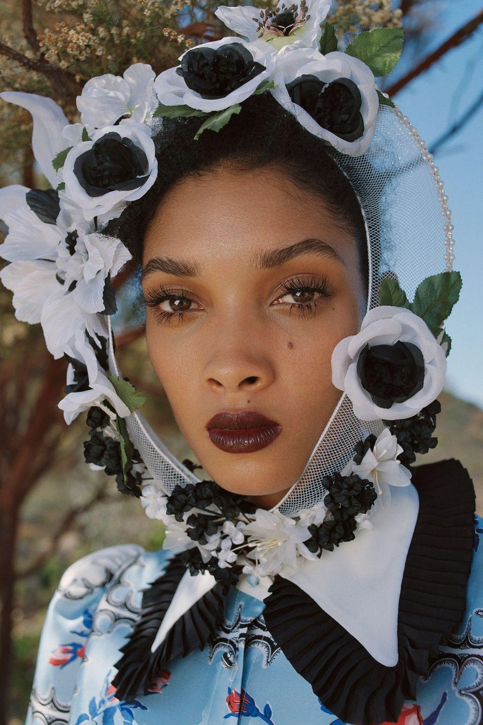 <p>Add a 90s twist to moody berry lips with a brown undertone and ultra long dolly lashes. Flower crown optional.</p>