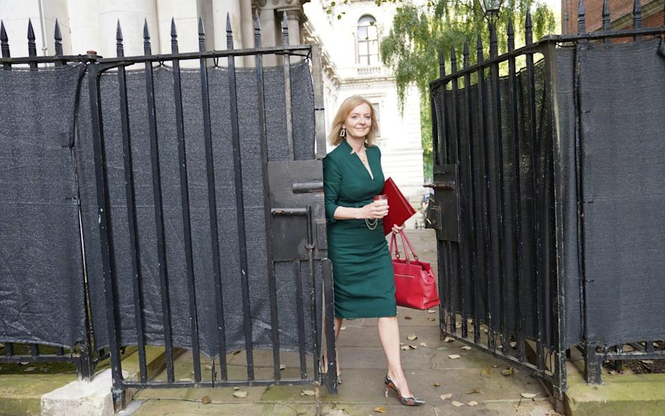 Newly appointed Foreign Secretary Liz Truss arriving in Downing Street - PA