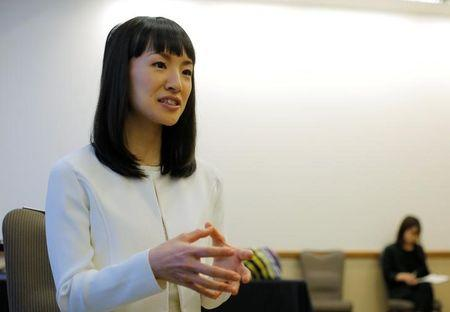 Japanese author and creator of the KonMari Method to declutter, Marie Kondo, is interviewed by Reuters at the South by Southwest (SXSW) Music Film Interactive Festival 2017 in Austin, Texas, U.S., March 11, 2017. REUTERS/Brian Snyder