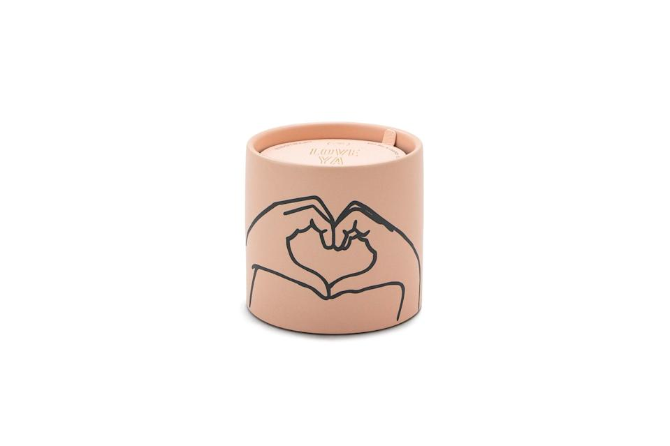 """<p>We're throwing our hearts up for this dusty matte pink ceramic candle from Paddywax. Spicy notes like cinnamon, nutmeg and patchouli are matched out with tobacco, sandalwood and vanilla, making for a fragrance you'll want to burn any time, anywhere. </p> <p><strong>Buy It!</strong> $20, <a href=""""https://www.pjatr.com/t/8-12069-131940-176793?sid=PEOTheBestValentinesInspiredCandlesfortheSingleorTakenCandleLoverInYourLifehchubbHomGal12564975202102I&url=https%3A%2F%2Fpaddywax.com%2Fcollections%2Fimpressions%2Fproducts%2Fimpressions-tobacco-vanilla"""" rel=""""nofollow noopener"""" target=""""_blank"""" data-ylk=""""slk:paddywax.com"""" class=""""link rapid-noclick-resp"""">paddywax.com</a></p>"""