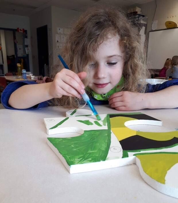 Students from kindergarten to Grade 5 took part in the mural project this year.