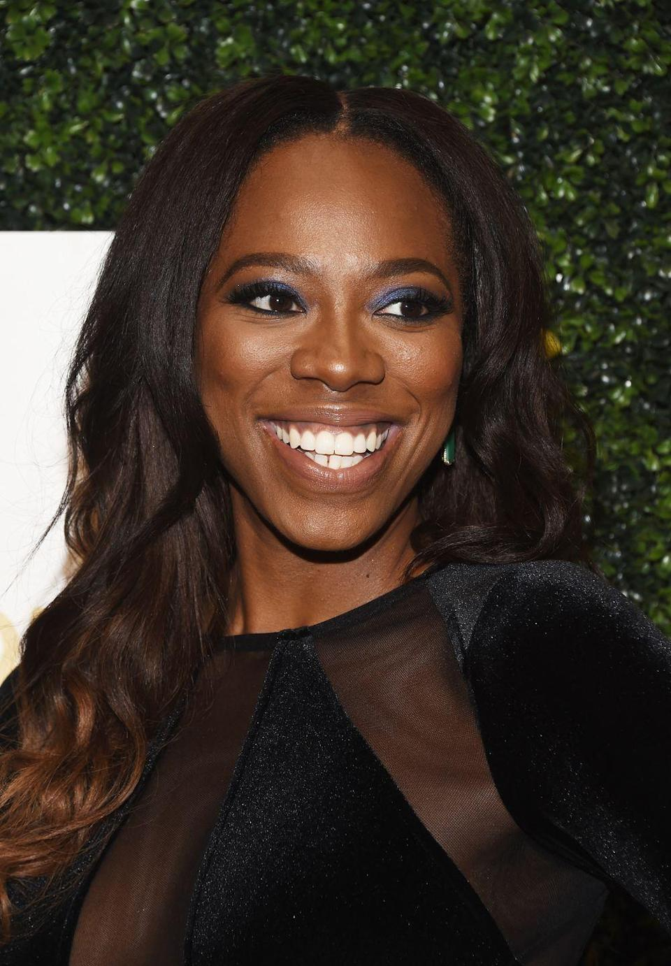 """<p>Keep your fall months warm by adding gold tones to your hair like <strong>Yvonne Orji</strong>, a method that's ideal for those with darker complexions. """"Warm tones with golden highlights are best,"""" says Kattia Solano, a hairstylist and found of Butterfly Studio Salon. """"However, be sure to stay away from too much warmth or red tones, as you don't want to wash out the skin's natural glow."""" </p>"""