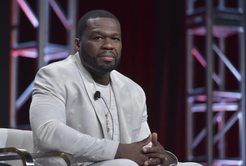 "FILE - In this July 26, 2019 file photo, Curtis ""50 Cent"" Jackson participates in the Starz ""Power"" panel at the Television Critics Association Summer Press Tour in Beverly Hills, Calif. The series that has turned into a ratings juggernaut and already sparked plans for spinoffs begins airing its final season on Sunday, Aug. 25.  (Photo by Richard Shotwell/Invision/AP, File)"