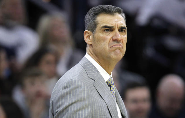 Villanova head coach Jay Wright shouldn't be looking like that considering how his team is playing. (AP)