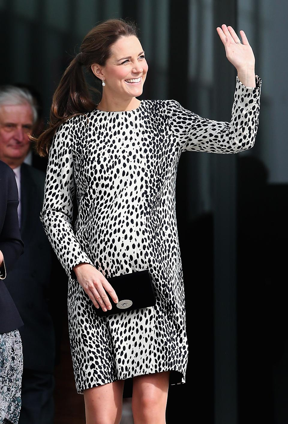 The Duchess of Cambridge visiting the Turner Contemporary gallery on March 11, 2015. (Getty Images)