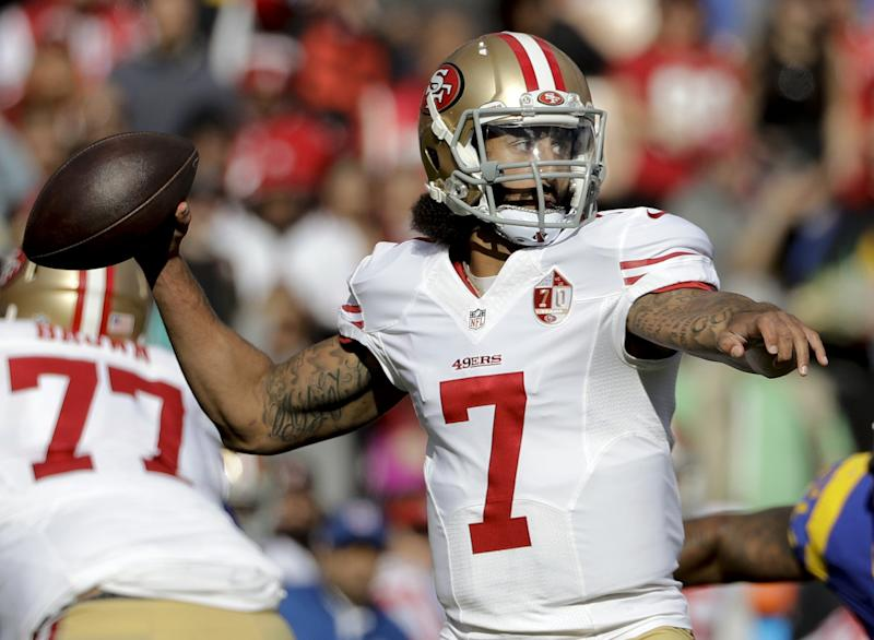 Colin Kaepernick visiting with Seahawks