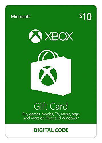 """<p><strong>Microsoft</strong></p><p>amazon.com</p><p><strong>$10.00</strong></p><p><a href=""""https://www.amazon.com/dp/B00F4CEHNK?tag=syn-yahoo-20&ascsubtag=%5Bartid%7C10050.g.25632110%5Bsrc%7Cyahoo-us"""" rel=""""nofollow noopener"""" target=""""_blank"""" data-ylk=""""slk:Shop Now"""" class=""""link rapid-noclick-resp"""">Shop Now</a></p><p>Thousands of glowing Amazon reviews can't be wrong. This gift card will put a smile on the face of any avid gamer on Christmas morning. </p>"""