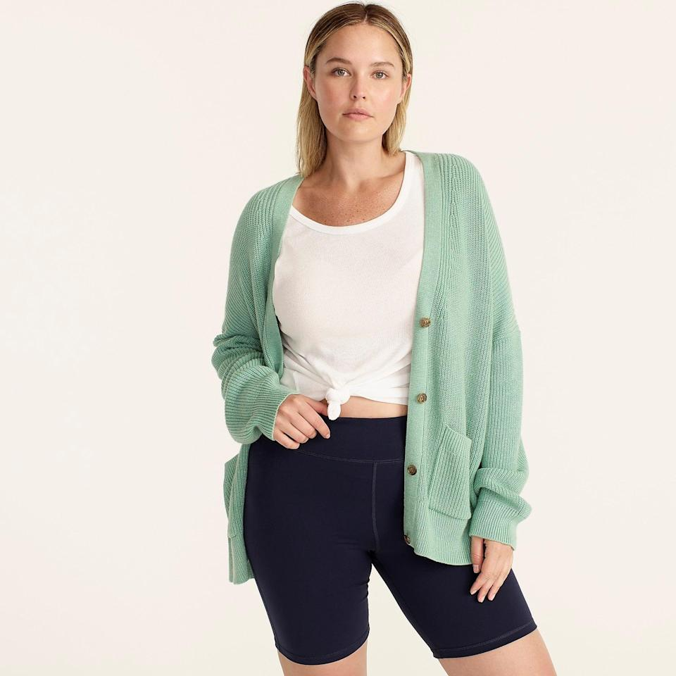 """<br><br><strong>J. Crew</strong> V-neck cotton-cashmere cardigan sweater, $, available at <a href=""""https://go.skimresources.com/?id=30283X879131&url=https%3A%2F%2Fwww.jcrew.com%2Fp%2Fwomens%2Fcategories%2Fclothing%2Fsweaters%2Fcardigan%2Fv-neck-cotton-cashmere-cardigan-sweater%2FAX752"""" rel=""""nofollow noopener"""" target=""""_blank"""" data-ylk=""""slk:J. Crew"""" class=""""link rapid-noclick-resp"""">J. Crew</a>"""