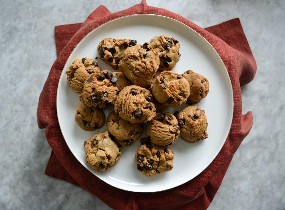 "<p><strong>Recipe: </strong><a href=""http://www.southernliving.com/recipes/peanut-butter-chocolate-chip-cookies"" rel=""nofollow noopener"" target=""_blank"" data-ylk=""slk:Peanut-Butter Chocolate Chip Cookies"" class=""link rapid-noclick-resp""><strong>Peanut-Butter Chocolate Chip Cookies</strong></a></p> <p>Peanut butter and chocolate were made for each other, and this chewy cookie recipe is definite proof.</p>"