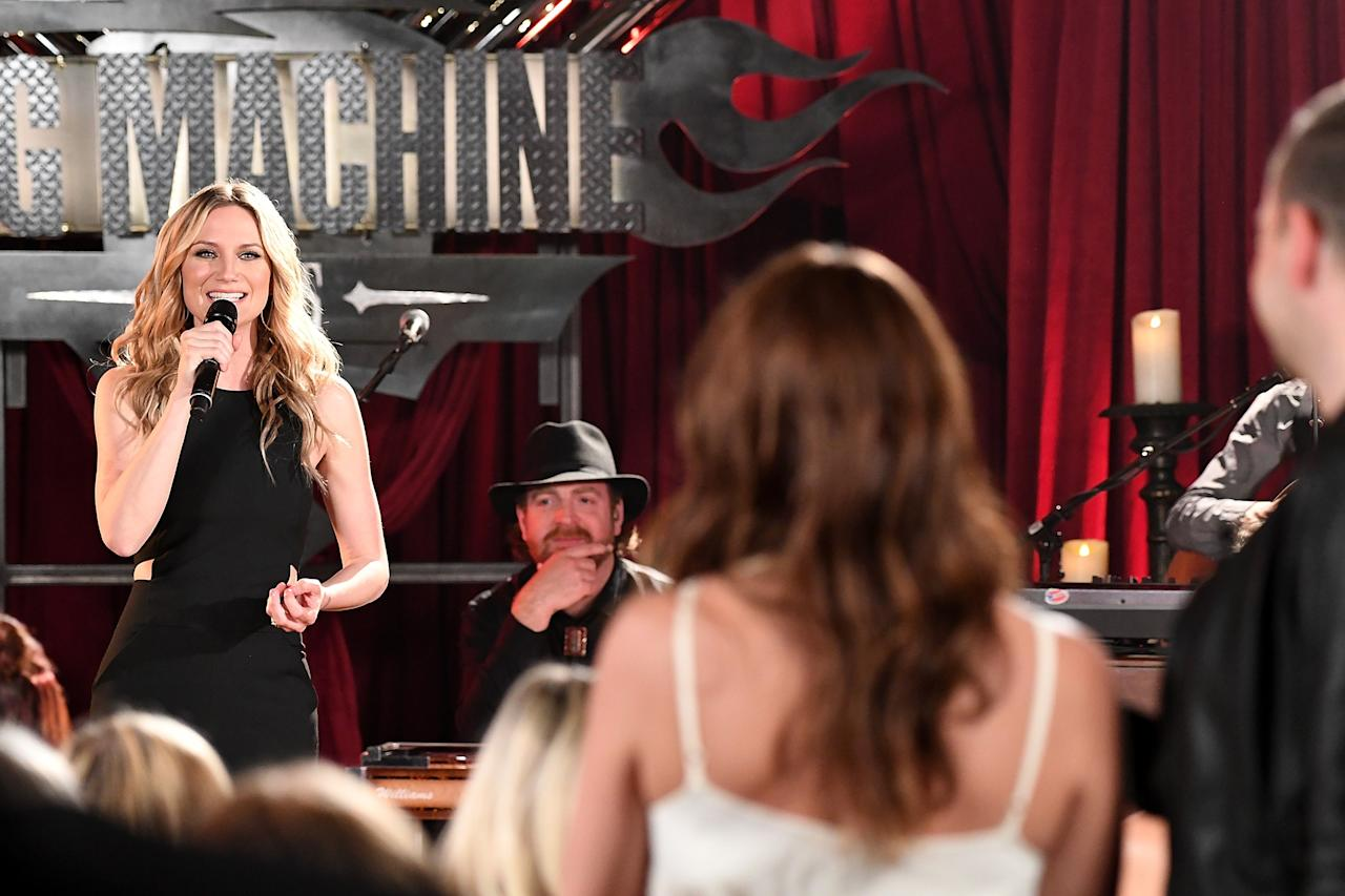 NASHVILLE, TN - APRIL 26: Singer-songwriter Jennifer Nettles performs live on HSN during Big Machine Rocks Music Special at The Tracking Room on April 26, 2016 in Nashville, Tennessee. (Photo by Jason Davis/Getty Images for HSN)