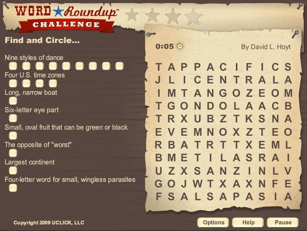 Games.com Game of the Day: Word Roundup Challenge