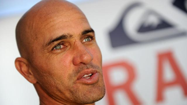 There is inherent danger in surfing big waves, but if they're being surfed in the vicinity of Kelly Slater, they can be slightly safer.