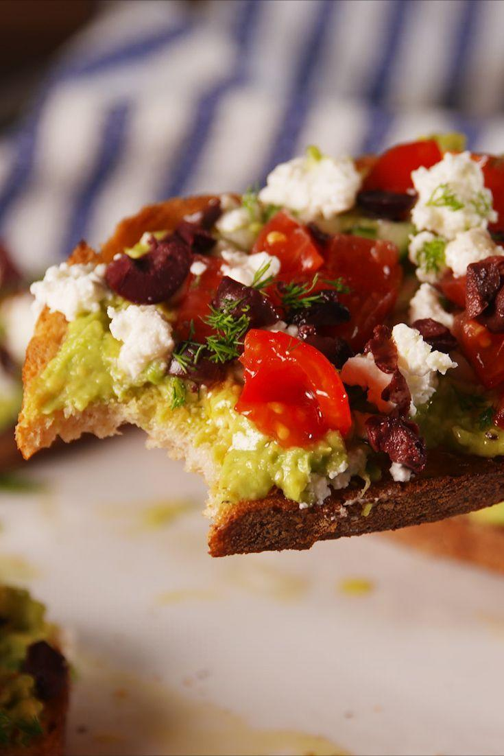 """<p>The toastest with the mostest.</p><p>Get the recipe from <a href=""""https://www.delish.com/cooking/recipe-ideas/recipes/a53555/greek-avocado-toast-recipe/"""" rel=""""nofollow noopener"""" target=""""_blank"""" data-ylk=""""slk:Delish"""" class=""""link rapid-noclick-resp"""">Delish</a>.</p>"""
