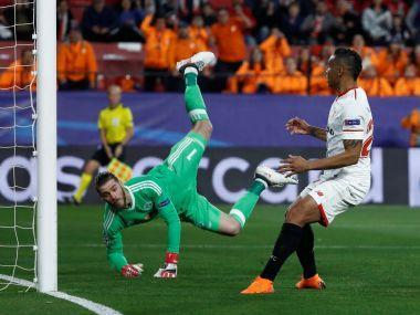 David de Gea deflected the attention away from Paul Pogba with another spectacular display of goalkeeping as Manchester United came away from their Champions League last 16, first leg against Sevilla in Spain with a 0-0 draw on Wednesday.