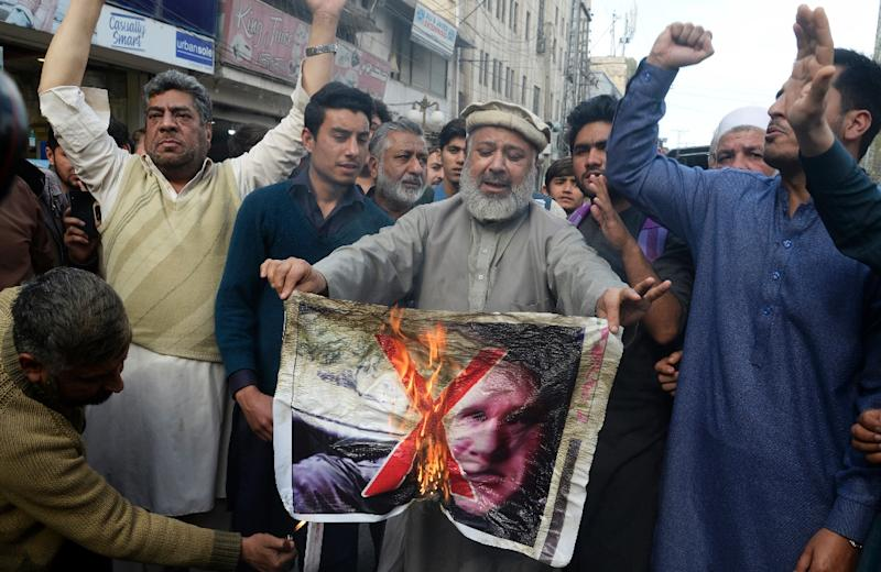 The shockwaves from the New Zealand mosque massacre have reverberated around the world with Pakistani traders burning a picture of the alleged gunman, a white supremacist