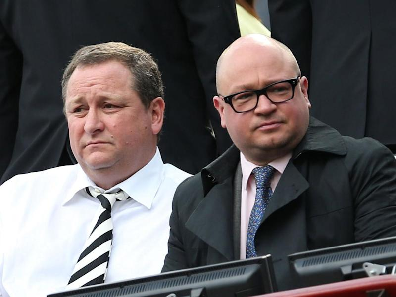 Charnley (right), the club's managing director, was arrested and released without charge (Getty Images)