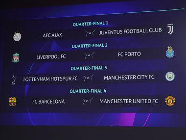 Champions League: Manchester United draw Barcelona in quarter-finals; City to take on Tottenham in all-English clash
