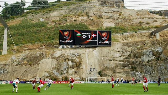 <p>At most grounds you will have fans sitting and watching from effectively four sides, but not in Braga's Municipal Stadium.</p> <br><p>Instead, a cliff resides on one side where normally supporters would be placed, watching their team.</p> <br><p>The cliff is a stunning part of the stadium, and there is even a screen planted on it so fans can watch replays of matches.</p>