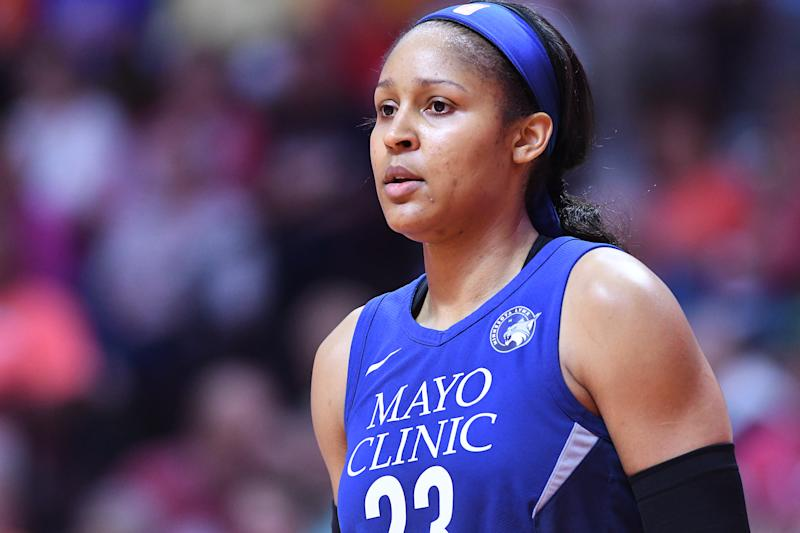 Maya Moore has spent the last two years helping a wrongfully convicted man secure his release from prison. (Photo by Matteo Marchi/Getty Images)