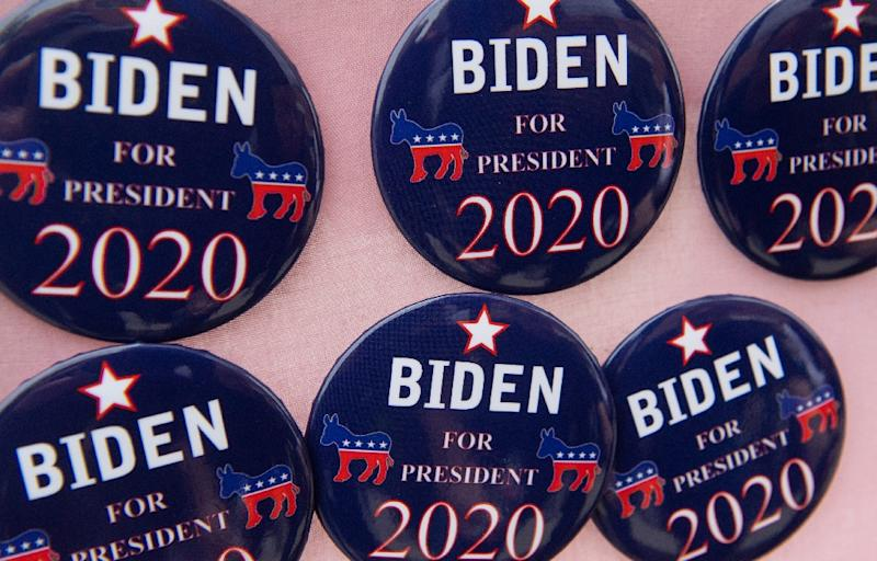 Biden styles himself as an ardent defender of working class Americans, someone who can win back the Midwestern white, male blue-collar voters who went for Trump in 2016 (AFP Photo/SAUL LOEB)