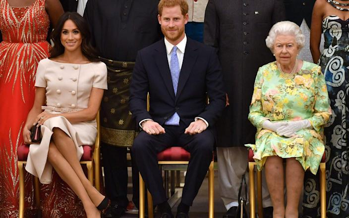 """The Duchess said the Queen was """"lovely"""" to her - AFP"""