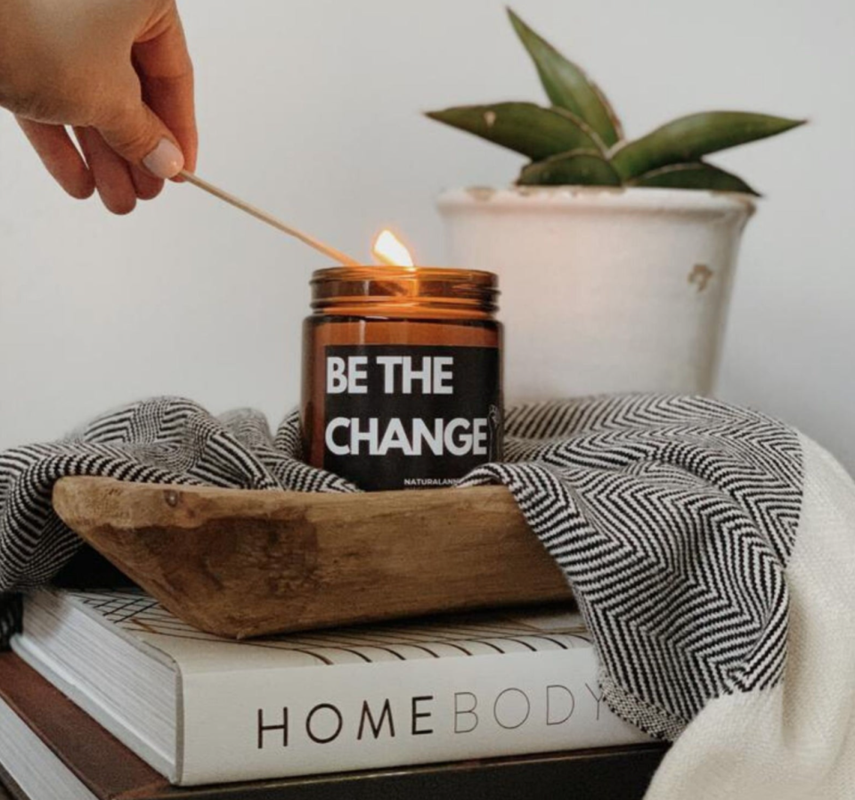 'Be The Change' Soy Candle (Photo via Etsy)