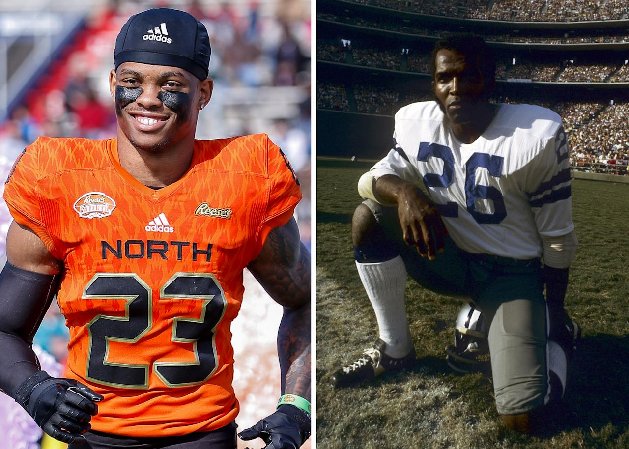 Hall of Famer Herb Adderlay is the cousin of Delaware's safety Nasir Adderlay.