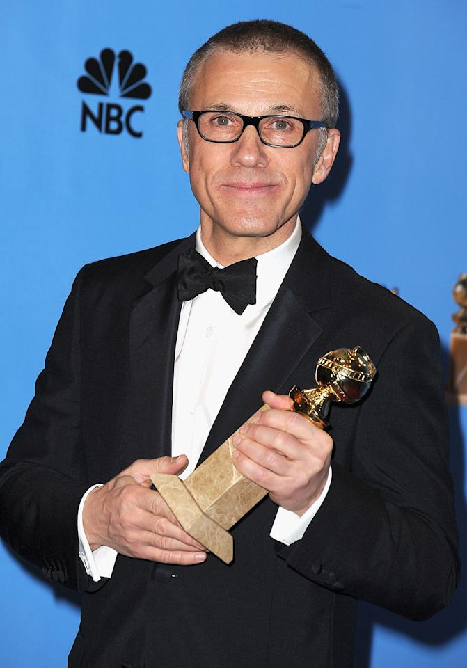 Christoph Waltz poses in the press room at the 70th Annual Golden Globe Awards held at The Beverly Hilton Hotel on January 13, 2013 in Beverly Hills, California.