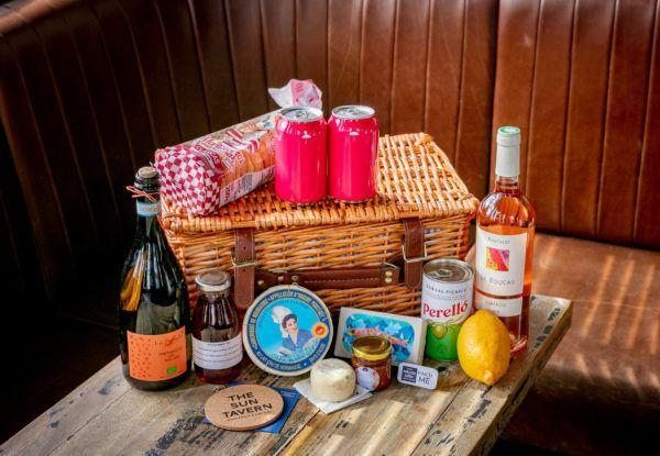 "<p>Whether you're enjoying the balmy summer nights in your garden or in a local park, make sure you come prepared with alfresco fare from the legendary Bethnal Green Road cocktail bar, the Sun Tavern. Its brilliantly curated Garden Hamper (£90) comes with two wine glasses, cutlery and plates, and includes a bottle of prosecco and rosé, plus strawberry Kir cocktails, cans of Umbrella London rhubarb cider, Gordal olives, sardines, lemon, a wheel of Camembert and Crottin De Chavignol goats cheese, ship biscuits, Coli & Sumz chutney, and Halen Môn Anglesey sea salt.</p><p><a href=""https://www.thesuntavern.co.uk/shop/product-category/food/"" rel=""nofollow noopener"" target=""_blank"" data-ylk=""slk:www.thesuntavern.co.uk"" class=""link rapid-noclick-resp"">www.thesuntavern.co.uk</a></p>"