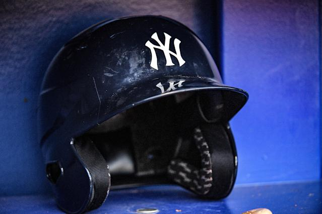 "A <a class=""link rapid-noclick-resp"" href=""/mlb/teams/ny-yankees/"" data-ylk=""slk:Yankees"">Yankees</a> minor leaguer is the first MLB player to test positive for COVID-19. (Photo by Mark Brown/Getty Images)"