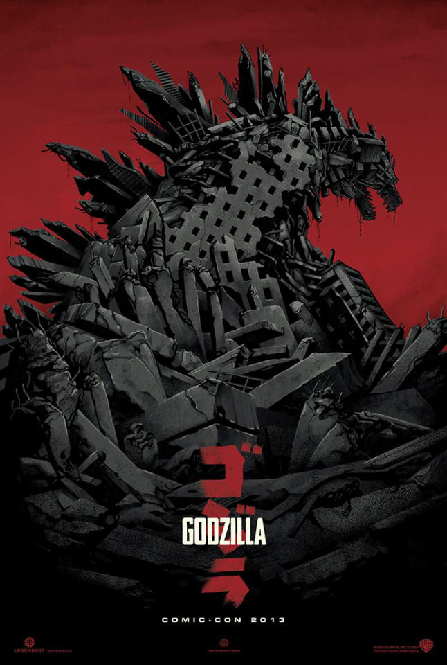 Mondo Poster for Godzilla - Comic Con 2013