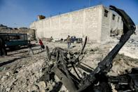 There was no immediate link between the two car bombings near Al-Bab (pictured) and in Afrin that killed a total of eight people, or the incident that claimed 21 lives in a minefield