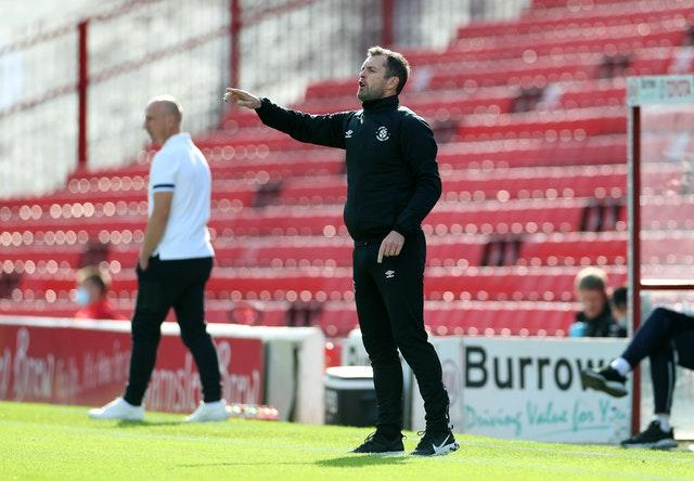 Nathan Jones returned to the Luton hotseat after an ill-fated spell as Stoke manager