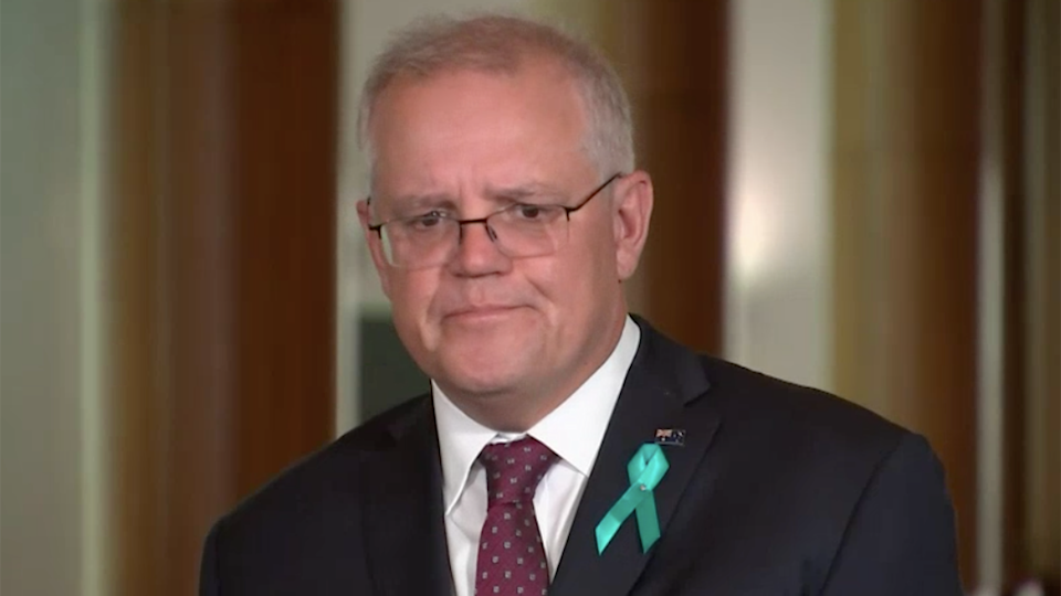 Scott Morrison Prime Minsiter responds to alleged rape of Brittany Higgins by liberal staffer