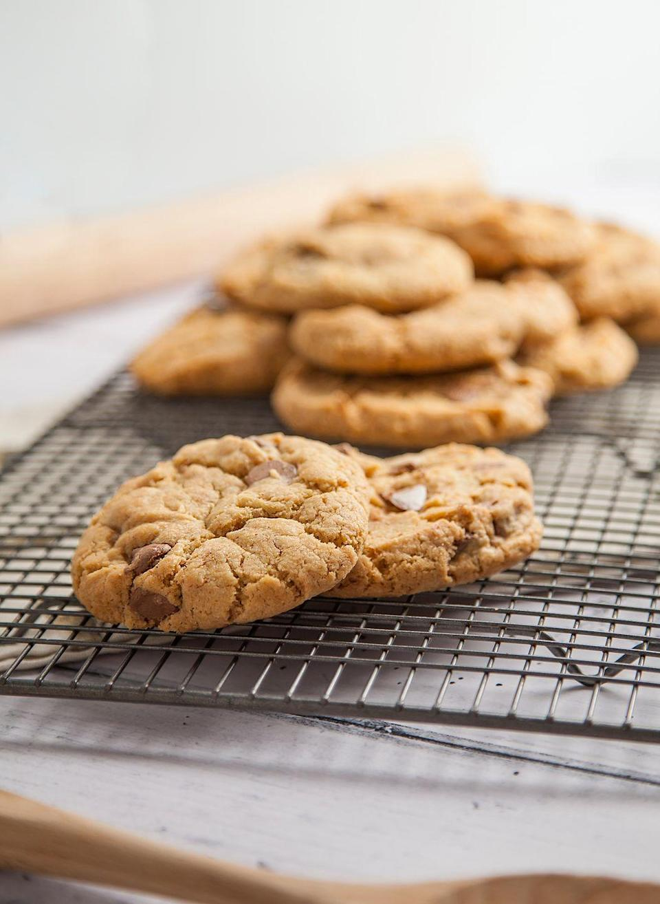 "<p>We can't get enough of these gorgeous vegan chocolate chip cookies. You'll 100% want more than one... <br></p><p><strong>Recipe: <a href=""https://www.goodhousekeeping.com/uk/food/recipes/a25542611/vegan-cookies/"" rel=""nofollow noopener"" target=""_blank"" data-ylk=""slk:Vegan Chocolate Chip Cookies"" class=""link rapid-noclick-resp"">Vegan Chocolate Chip Cookies </a></strong></p>"