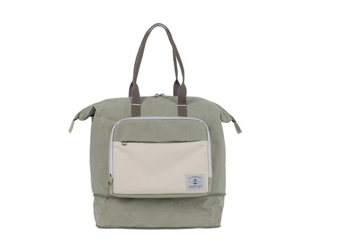 <p>People love the <span>Humble-Bee Boundless Charm Expandable Diaper Bag</span> ($109) because it looks like an ordinary backpack, yet it can expand into a large diaper bag with an extra cooler packet that can fit up to 4 bottles.</p>