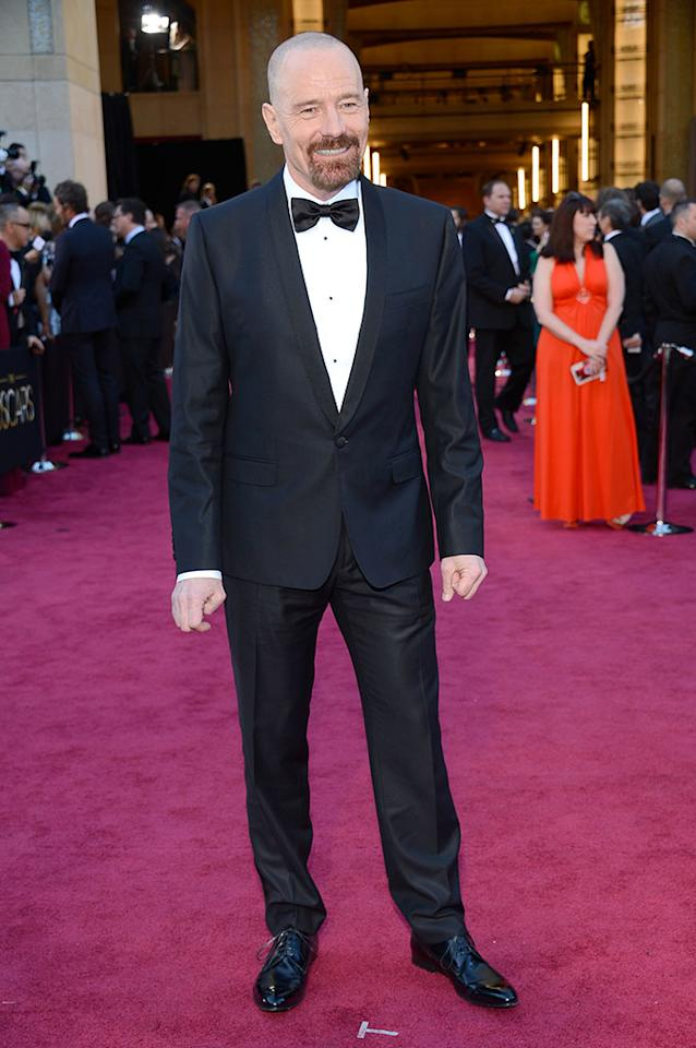 Bryan Cranston arrives at the Oscars in Hollywood, California, on February 24, 2013.