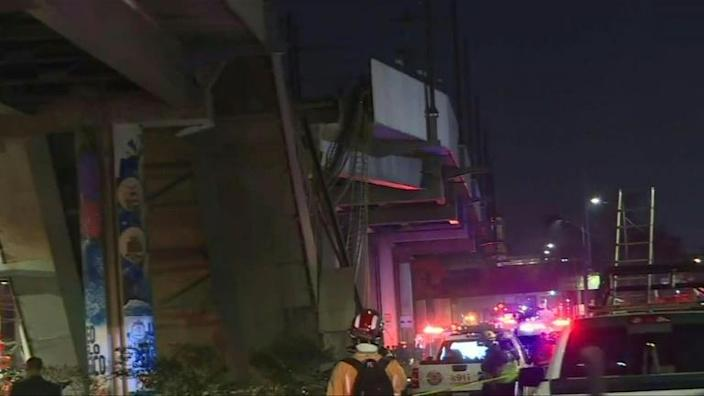 At least 25 people were killed and dozens injured when an elevated metro line collapsed in the Mexican capital as a train was passing