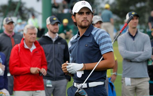 <span>Toto Gana of Chile is one of a handful of amateurs at the 2017 Masters</span> <span>Credit: Jonathan Ernst/REUTERS </span>