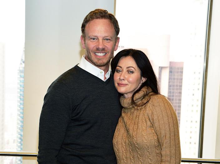 """Ian Ziering praised """"resilient"""" Shannen Doherty during her cancer journey. (Photo: Slaven Vlasic/Getty Images)"""