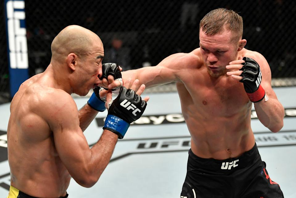 Petr Yan makes the first defence of the bantamweight title he won against Jose Aldo last yearZuffa LLC via Getty Images
