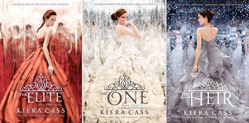 Book Cover Watercolor Dress : The selection kiera cass delivers movie news and