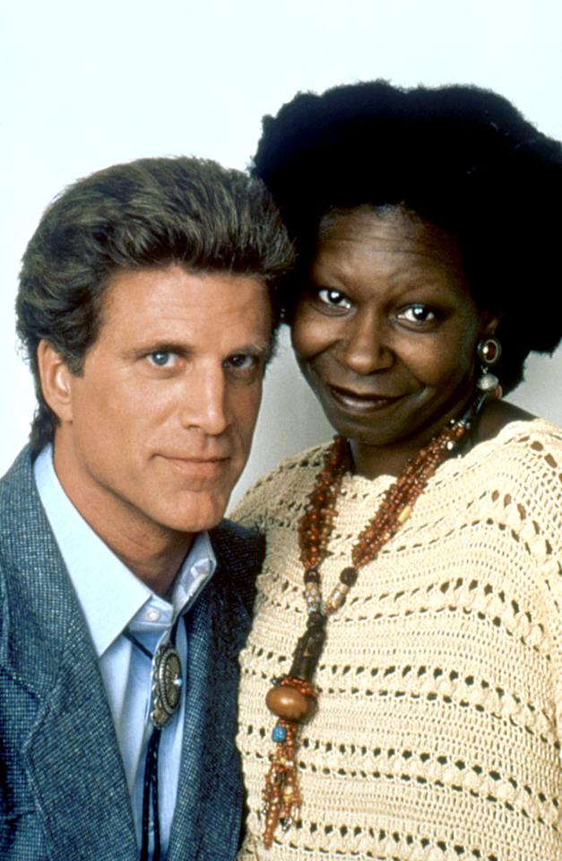 "Ted Danson and Whoopi Goldberg fell in love in 1992 while filming ""Made in America."" At the time, the ""Cheers"" star was married to his wife of 15 years, Casey, who became paralyzed by a stroke she suffered during the birth of their second daughter. The comedians' love affair was rife with scandal (Danson drew ire after he appeared in ""black face"" at a roasting of Goldberg), and after two years together they called it quits in 1994. Mere months later, he rebounded with Mary Steenburgen, who he is still married to today."