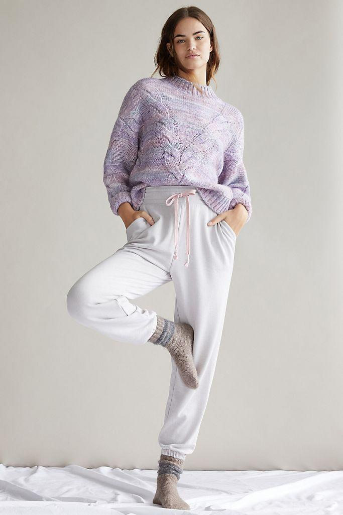 Camilla Knit Joggers. Image via Anthropologie.