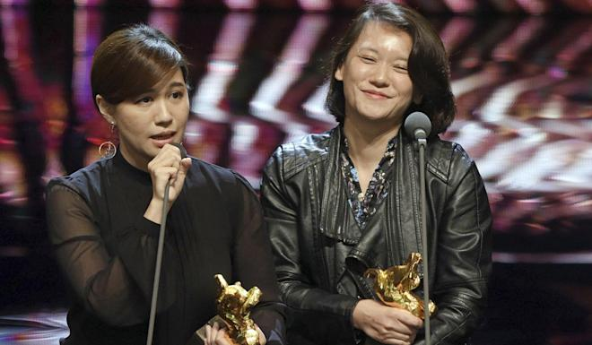 Taiwanese director Fu Yue (left). Photo: Taipei Golden Horse Film Festival Executive Committee via AP