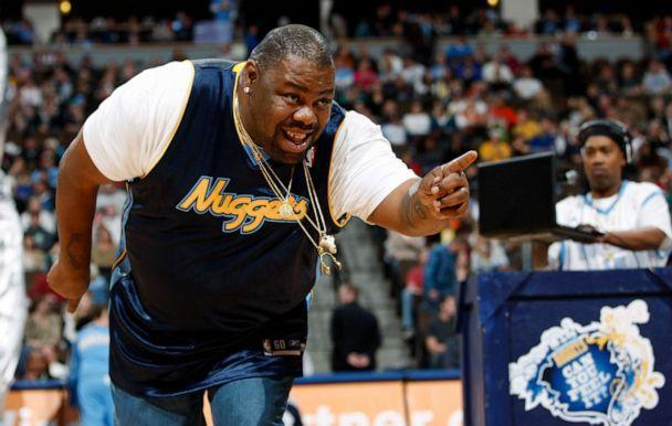 PHOTO: Biz Markie performs for fans during halftime of the Denver Nuggets' 105-99 victory over the Phoenix Suns in an NBA basketball game in Denver on Dec. 12, 2009. (David Zalubowski/AP, FILE)