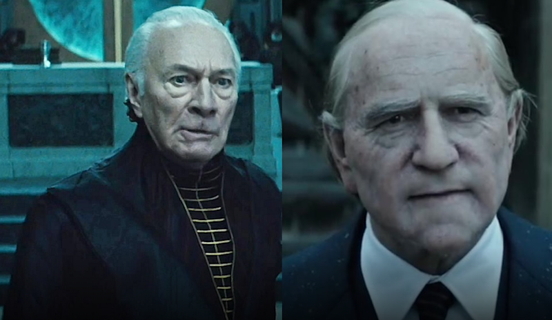 Christopher Plummer, left, replaced Spacey, right, in the new Ridley Scott movie. Source: Sony Pictures