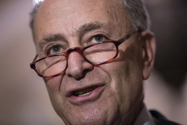 Senate Minority Leader Chuck Schumer, D-N.Y., must keep his party — including critical red state Senators — together in fighting the Kavanaugh nomination. (Photo: J. Scott Applewhite/AP)