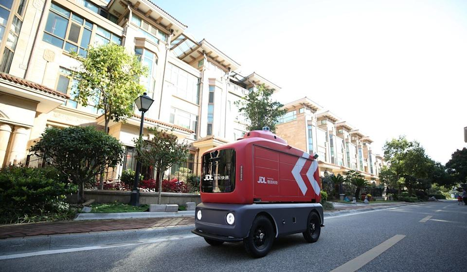 JD.com plans to put 100 autonomous delivery robots into operations in Changshu, a city in eastern China's Jiangsu province, by the end of this year. Photo: Handout