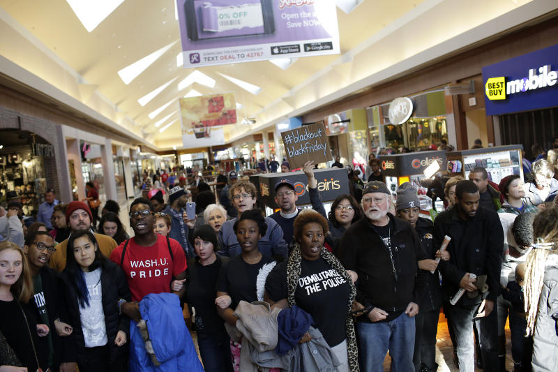 Local leaders are calling for a boycott of Target,Schnucks Markets, the St. Louis Galleria and other stores. (Joshua Lott via Getty Images)